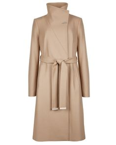 Belted wrap coat - Taupe | Jackets & Coats | Ted Baker