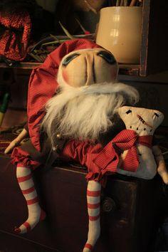 Primitive Folk Art Santa Doll Epattern by YankeeRidgePrimitive, $8.50