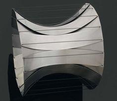 Bracelet | Susanne Klemm.  Steel and nylon.  1993