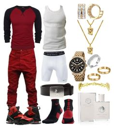 A menswear look from January 2017 featuring mens raglan short sleeve t shirts, mens watches and polo ralph lauren mens belts. Browse and shop related looks. Dope Outfits For Guys, Swag Outfits Men, Stylish Mens Outfits, Tomboy Outfits, Casual Outfits, Rapper Outfits, Girl Outfits, Teen Boy Fashion, Tomboy Fashion