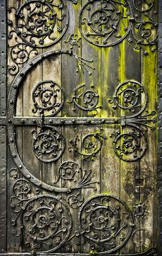Beautifully hinged door - aged to perfection!