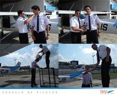 Formamos #Pilotos #Aviadores !! Aquí nuestro alumno Cristian Arias después de haber realizado su primer #vuelo #solo junto a su instructor Cap. Diego Lema