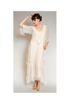 Layered Nataya Dress AL-10709 in Rose/Gold