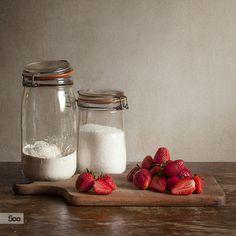 Photograph Strawberries by Justyna Karczewska on 500px