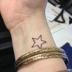 Star, wrist tattoo on TattooChief.com