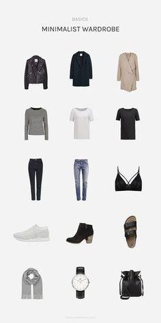 Im Trend: Der minimalistische Kleiderschrank, bestehend aus wenigen Basics...