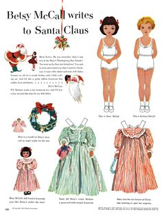 Betsy McCall page from McCall Magazine 1952