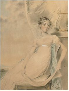 DOWNMAN John (1750-1824) - Portrait of Anne Lucy Poulett, Lady Nugent. The dress indicates that the portrait was drawn c. 1800-1810