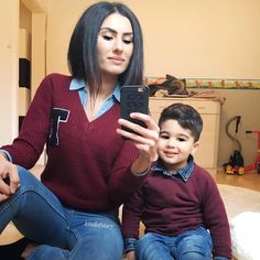 19 Adorable Photos Of Kids Dressed Like Their Parents Mother Son Matching Outfits, Mom And Son Outfits, Mother Daughter Outfits, Baby Boy Outfits, Kids Outfits, Fashion Kids, Baby Boy Fashion, Toddler Fashion, Fashion Games
