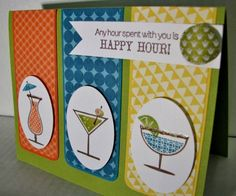 Happy hour by lizzy3 - Cards and Paper Crafts at Splitcoaststampers