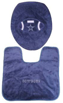 Toilet Cover and Mat Dallas Cowboys