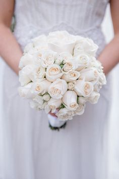 rose wedding bouquet idea; Photography by Leandra