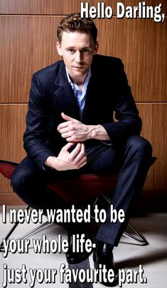 Tom Hiddleston. Hello Darling- Part