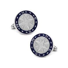 Compass Cuff Links, Men's, Blue