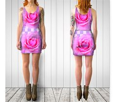 PINK ROSES FITTED SHORT DRESS BY STREETCHIC BY ARA preview #1