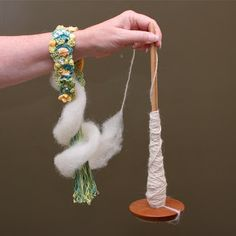 Wrist Distaff for Spinning Fiber