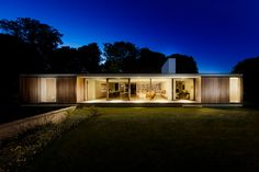 the elongated property mediates the steeply sloping site, and allows for a simple arrangement of internal spaces.