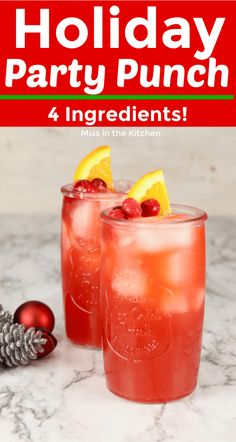 Holiday Party Punch is great for holiday celebrations, parties and family gatherings. Only 4 ingredients in this red party punch that everyone can enjoy! Holiday Party Punch This Holiday Party Punch is a variation on Red Punch Recipes, Holiday Punch Recipe, Alcoholic Punch Recipes, Coctails Recipes, Alcohol Drink Recipes, Holiday Recipes, Christmas Recipes, Best Punch Recipe, Alcoholic Desserts