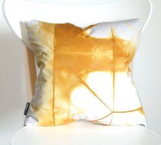 Organic Shibori Pillow Cover in Goldenrod