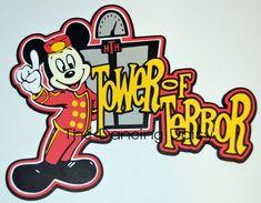 Disney Scrapbooking Disney die cut Tower of Terror Disney paper piecing scrapbook disney Ideas Scrapbook, Disney Scrapbook Pages, Scrapbook Supplies, Scrapbooking Layouts, Vacation Scrapbook, Scrapbook Titles, Disney Logo, Disney Cars, Walt Disney
