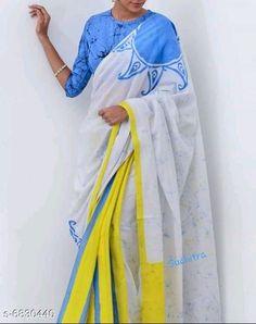 Mumul cotton Saree:Starting ₹810/- free COD whatsapp+919199626046 Printed Sarees, Printed Blouse, Printed Cotton, Cotton Blouses, Cotton Saree, Block Print Saree, Hand Painted Dress, Batik Prints, Saree Look