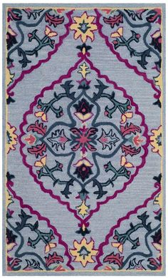 Safavieh Bellagio x Rectangle Wool Hand Tufted Traditional Area R Blue / Multi Rugs Area Rugs Traditional Area Rugs, Hand Tufted Rugs, Throw Rugs, Blue Area Rugs, Colorful Rugs, Red And Pink, Wool Rug, Color Patterns, Bohemian Rug