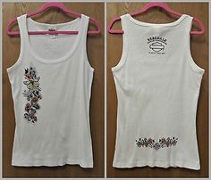 Harley-Davidson Women's 2X White Ribbed Tank Top 2007 Collectible