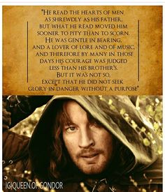 I'm torn between loving him or Aragorn more. What the heck, they're both amazing!