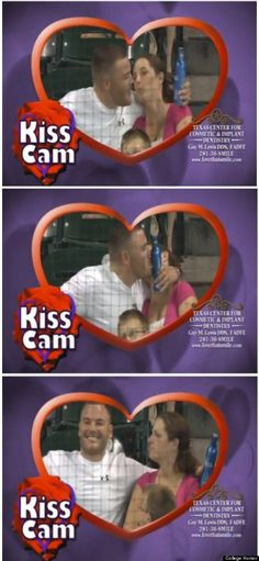 Kiss Cam Guy Chooses Beer Over Girlfriend. I hope she made him sleep on the couch! But still funny. LOL