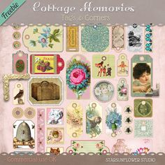Lots and lots of free digital papers, frames, vintage clip art and more...this site is amazing!
