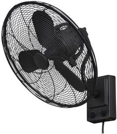 details about natural iron oscillating wall fan 3speeds bentley iii 22 in industrial cage