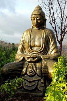 Buda Thai negro/dorado - 140cm | AW Regalos