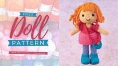 Knitted Doll Patterns, Knitted Dolls, Knitting Patterns, Crochet Patterns, Create And Craft, Fall Diy, Stuffed Toys, Embroidery Art, Needle And Thread