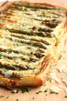 West Country Cheddar, Asparagus and Mustard Tart...Simply Wow.