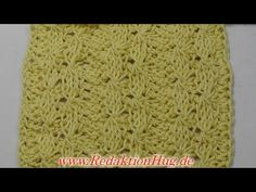 Tunisian Crochet - Patterns Geneva (IN GERMAN - If you are familiar with Tunisian Crochet you can watch this video to learn this stitch... The video is very good... Deb)