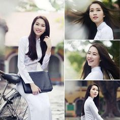 Gentle beauty and femininity of the Vietnamese girls  #blackhair #longstraighthair #aodaivietnam #smile #beautifulgirl | bởi MIC HAIR CECILIA