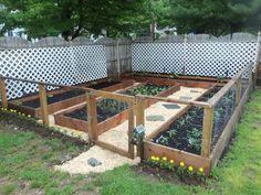 Garden landscaping for corner of the yard