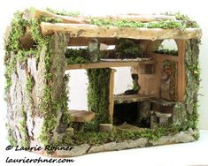 Woodland Fairy Houses Garden Fairy House Cottages Handcrafted Fairy Funiture Sculpted One of a Kind Whimsical Between The Weeds Laurie Rohner - Laurie Rohner nature artist