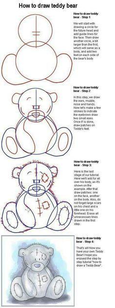 How to draw a tatty teddy bear
