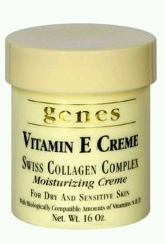 Genes / Vitamin E Creme /16oz Swiss Collagen Complex Moisturizing (4 Jars 64oz)