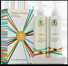 NEW Limited Edition Arbonne MerriMint Handcare duo Hand Wash Lotion Set #Arbonne