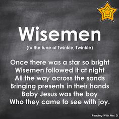 Reading with Mrs. D: Wisemen Christmas Song Reading with Mrs. D: Wisemen Christmas Song