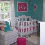Adorable!  Wherever I live next, McKinley's room will be turquoise and bright pink! It's decided :)