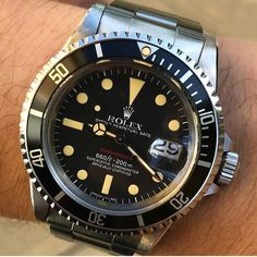"Gefällt 226 Mal, 3 Kommentare - Rolex - Bob's Watches (@bobswatches) auf Instagram: ""Minty 1680 Red Submariner - Still one of my favorite vintage timepieces. Photo c/o @_michael_morgan…"""