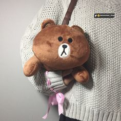 a865448d4a74 2017 Kawaii Rabbit Bear Plush Shoulder Bag Cute Cartoon DC317
