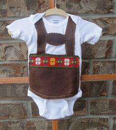 Lederhosen onesie! Perfect for Germany!