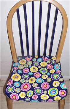 Contemporary solid wooden handpainted chair