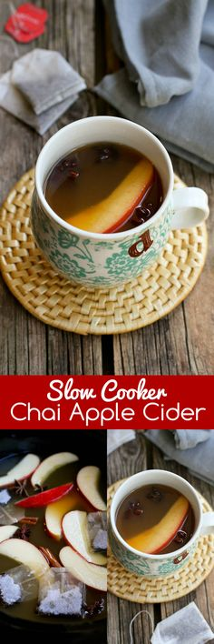 Slow Cooker Chai Apple Cider…Put a fresh spin on apple cider with the flavors of chai tea. Your house will smell amazing! 110 calories and 7 Weight Watchers SmartPoints
