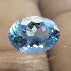 TOP NATURAL AQUAMARINE HIGH QUALITY 9.2x6.7 MM 1.5 Ct OVAL Cut  FACETED STONE #NAAZGEMS