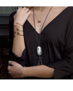 Rayne Necklace in Mirror Rock Crystal - Kendra Scott Jewelry.